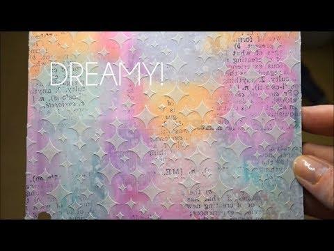 Dreamy Distress Crayons Art Journal Background! - Mixed Media Art Journal