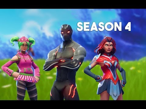 Buying Season 4 Battle Pass - FORTNITE *NEW* OUTFITS/CHARACTERS (OMEGA, VALVOR, SQUAD LEADER, ZOEY)