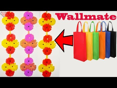 DIY Shopping bag Wall Hanging || Tote Bag Wall Decoration Ideas