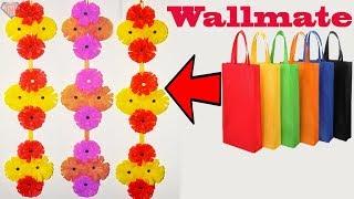 DIY Shopping bag Wall Hanging || Tote Bag Wall Decoration Ideas