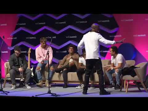 Web Summit avec WYCLEF JEAN et NELSON FREITAS