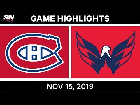 NHL Highlights | Canadiens vs. Capitals – Nov. 15, 2019