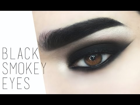 Drugstore Black Smokey Eye Makeup Tutorial