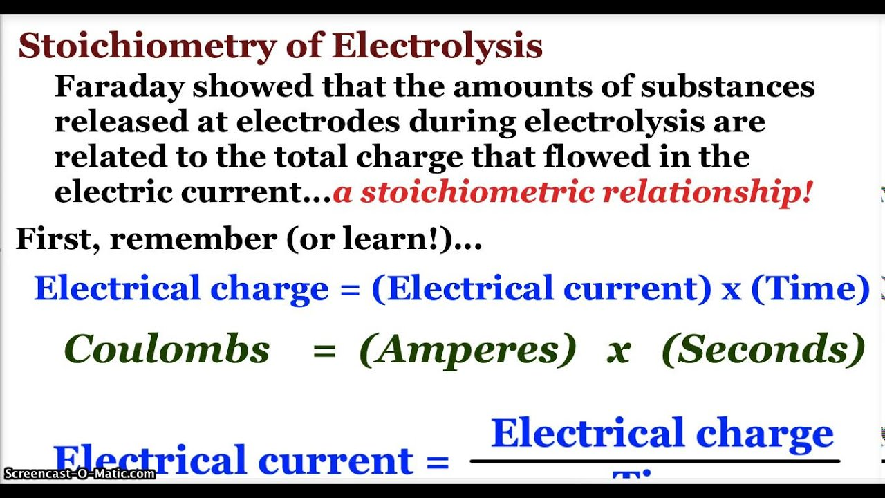 ap chemistry electrochemistry  electrolytic cells and