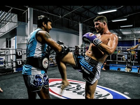 Bisping Muay Thai Training Highlight from Phuket Top Team in Phuket, Thailand