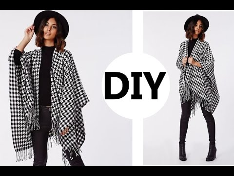 DIY// How To Make A Poncho (Easy Sewing) - YouTube