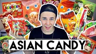 AUSTRALIAN BOY TRIES ASIAN CANDY | Joel Eats Junk