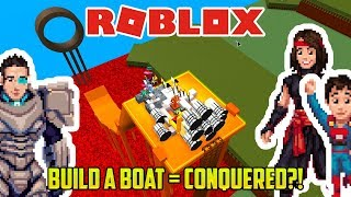 WE BUILD A BOAT AND MAKE IT TO THE END (Roblox Build a Boat)