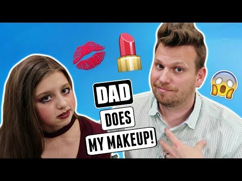 MY DAD DOES MY MAKEUP CHALLENGE | TEEN MAKEUP TUTORIAL