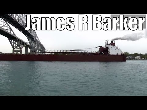 1976 James R Barker - 1000ft / 305m - Bulk Carrier Cargo Ship In Great Lakes May 21 2018