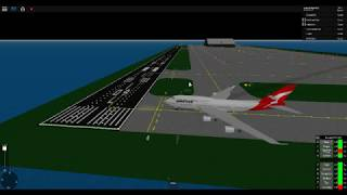 QANTAS 747 RUNWAY COLLISION ON TAKE OFF (FAIL!!!) - ROBLOX SFS (Flight Simulator) 2018