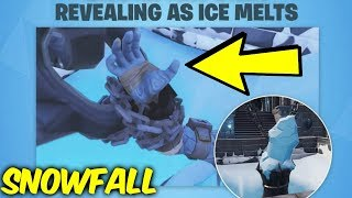 Fortnite snowfall skin revealed. Polar peak dungeon - ice melting