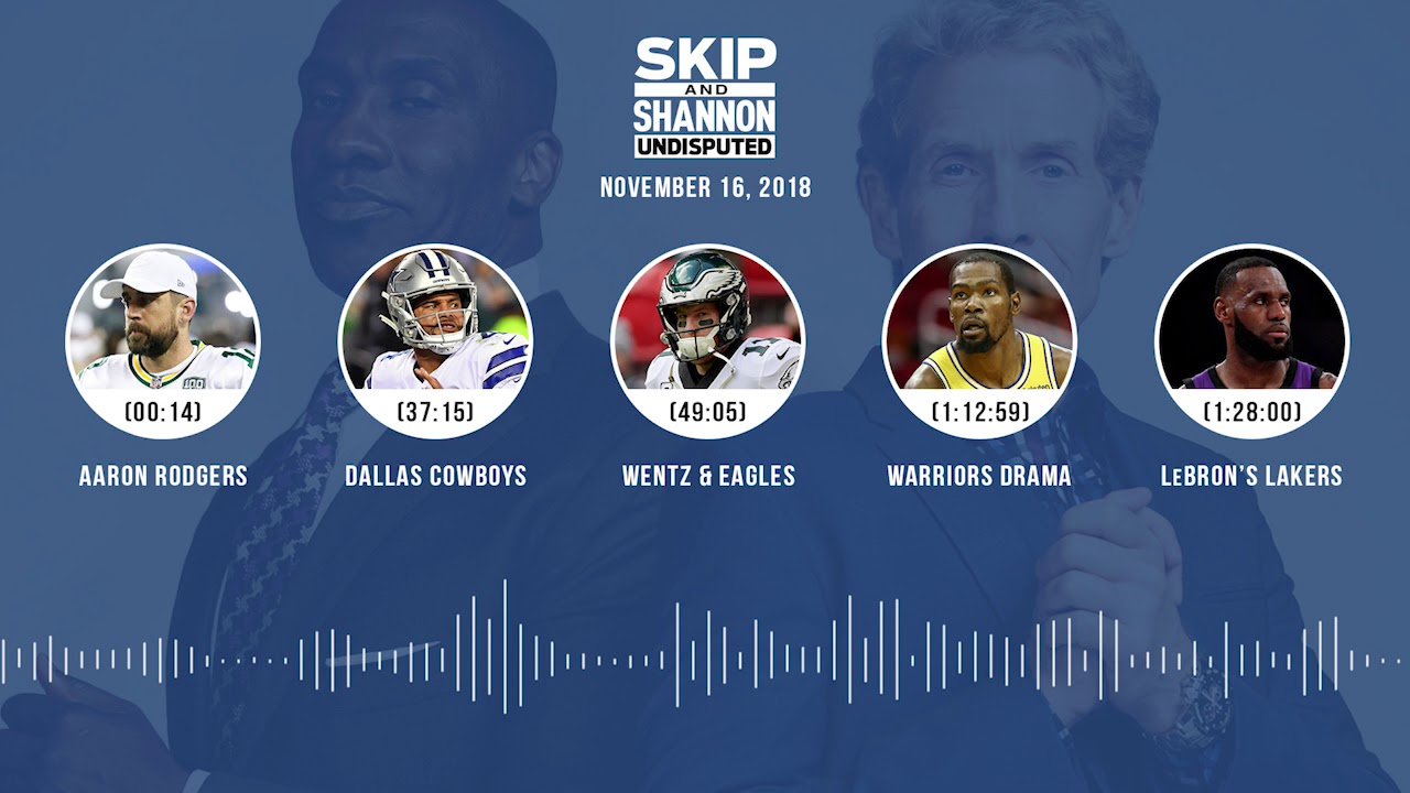 UNDISPUTED Audio Podcast (11.16.18) with Skip Bayless, Shannon Sharpe & Jenny Taft | UNDISPUTED