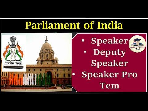 L-53-Speaker | Deputy Speaker | Speaker Pro Tem -(Laxmikanth, Indian Polity)(Part- 2) By VeeR