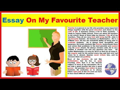 essay on my favourite teacher in english   words   youtube