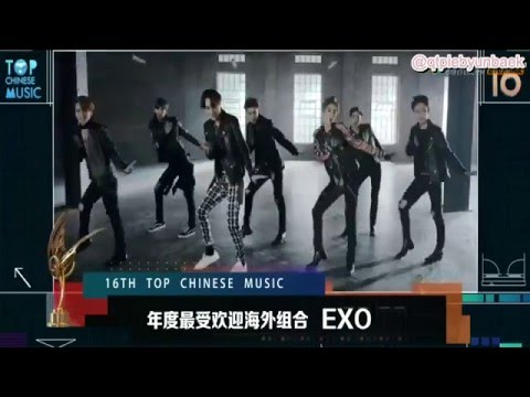 [ENG] 160409 EXO Top Chinese Music Awards (Most Popular Overseas Group)