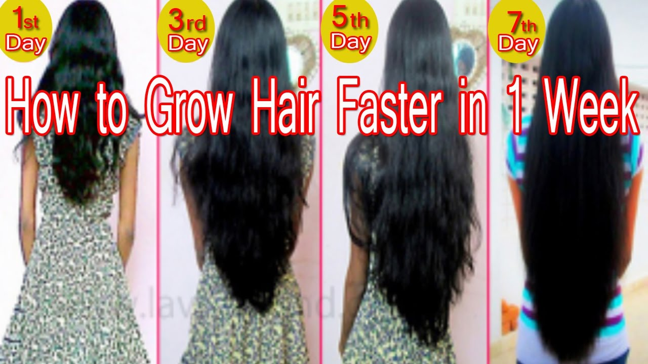 How to Grow Hair Faster in 1 Week - YouTube