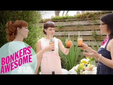 Alie and Georgia Mix Up Garden Cocktails with Joy the Baker  Food Network