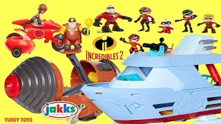 Disney Pixar Incredibles 2 Toys Huge Haul Poseable Action Figures Villains Tunneler Playsets Review