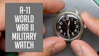 Elgin A-11 World War II Military Vintage Watch Restoration