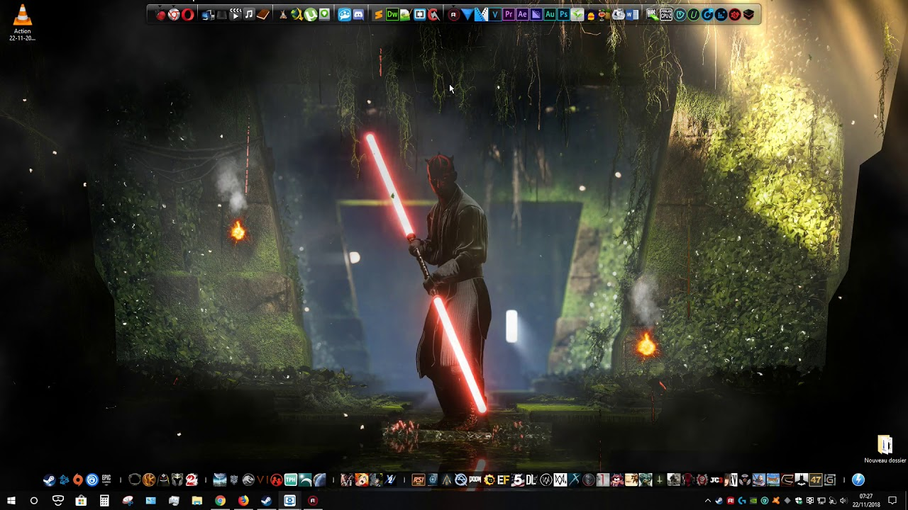 4k Wallpaper Engine Star Wars Darth Maul Double Saber