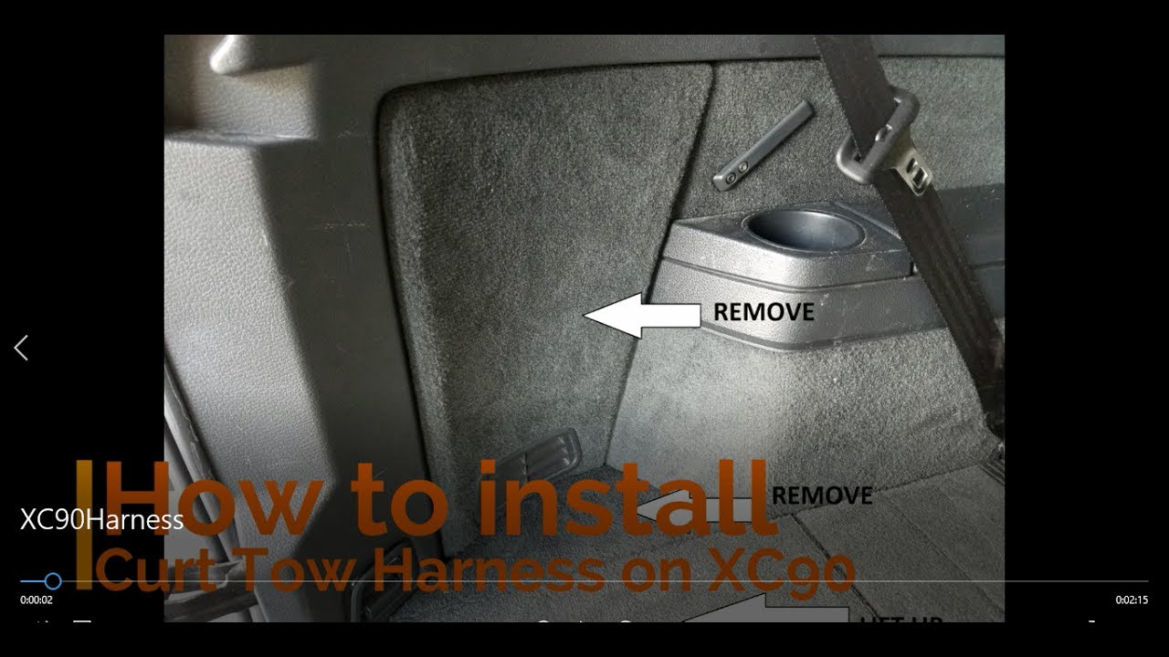 How To Install Curt Hitch Tow Harness On Volvo Xc90 Diy