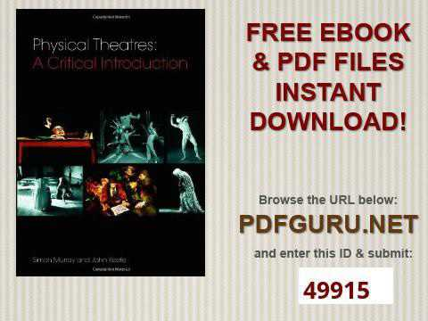 Physical Theatres A Critical Introduction