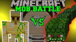 BUDDER GOLEM VS NAGA - Minecraft Mob Battles - Derpy Squid Mod & Chocolate Quest Mod
