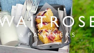 Rhubarb And Custard Traybake  | Waitrose