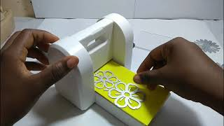 Máquina de estampagem- corta Eva e papel