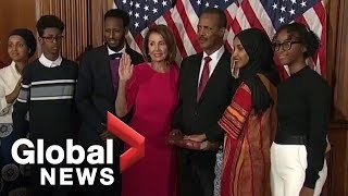 First Somali-American elected to Congress sworn in