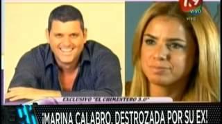 El ex de Marina Calabró la destroza en un programa de radio
