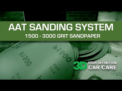 3D Products AAT Sanding System with 501 compound