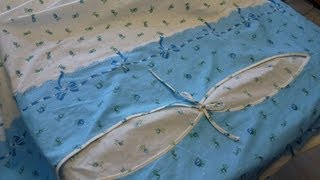Комплект постельного белья. Как сшить пододеяльник с фигурным вырезом ч1