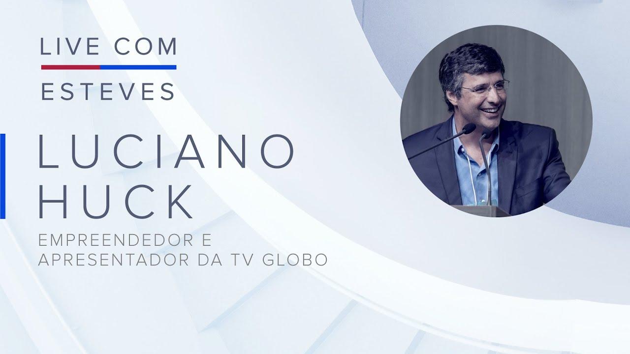 Live com Esteves: assista ao bate-papo exclusivo com Luciano Huck