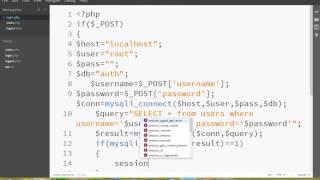 PHP MYSQL user authentication