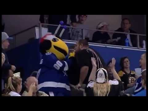 Bruins Fan Gets Assaulted By ThunderBug (Mascot) Then Tackles Him