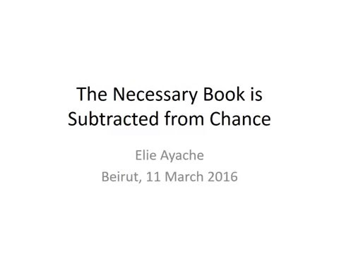 THE NECESSARY BOOK IS SUBTRACTED FROM CHANCE