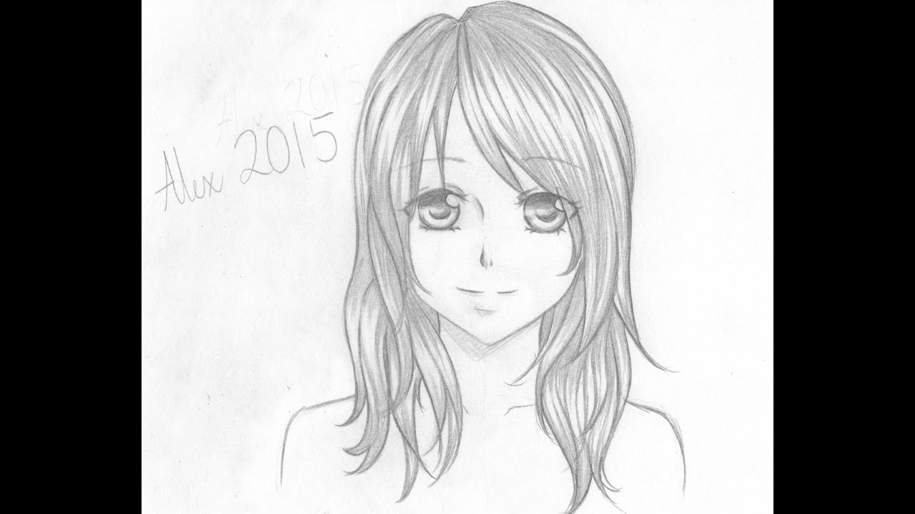 Uncategorized Anime Drawing Girl how to draw a manga girl tutorial youtube