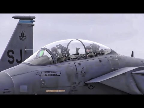 F-15E Strike Eagles Evacuate In Advance Of Hurricane Matthew