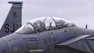 F-15E Strike Eagles Evacuate In Advance Of Hurricane Matthew