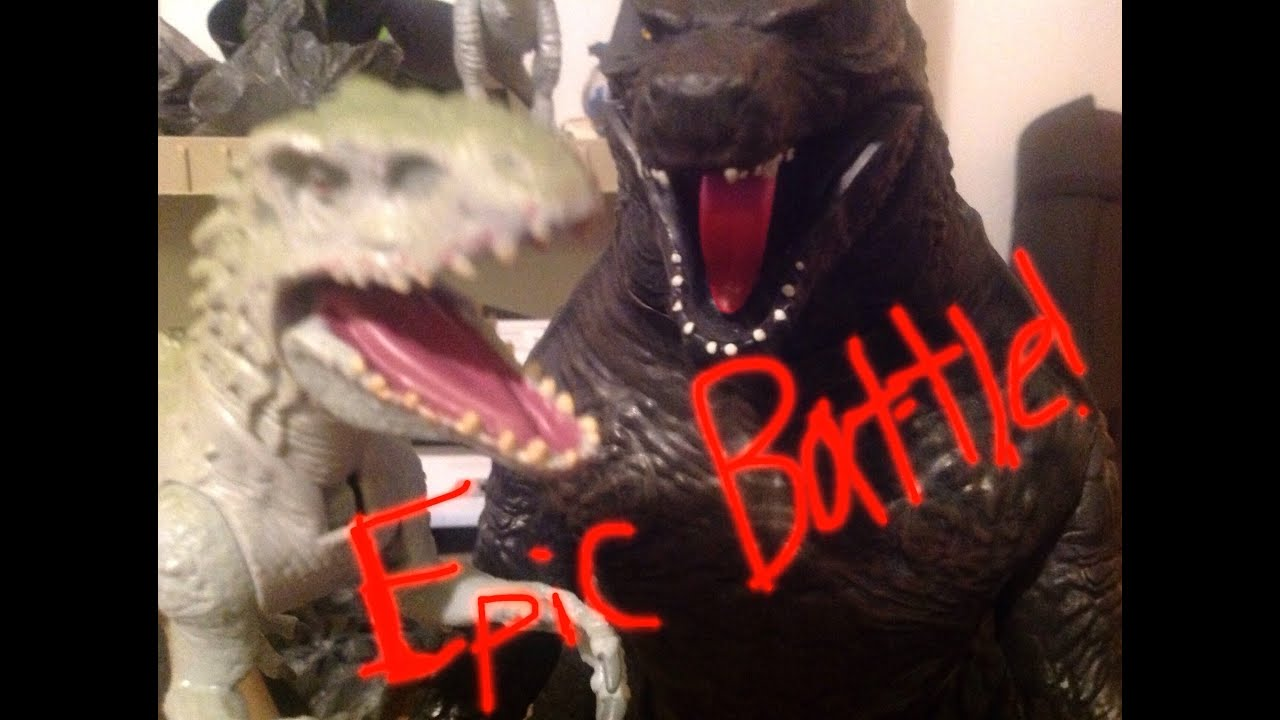 godzilla vs  indominus rex  epic battle