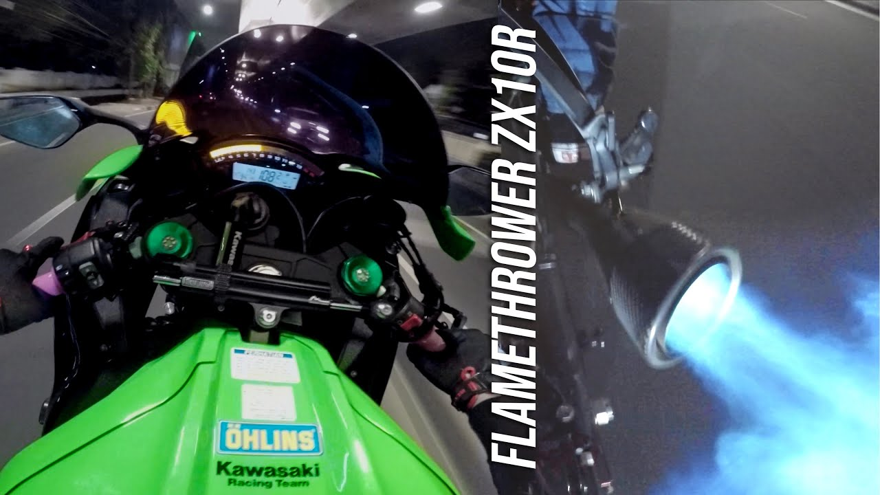 The Pure Sound of Kawasaki ZX10R FLAMETHROWER 🔥🔥🔥