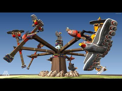 Thunderbirds NEUHEIT 2019 im Fort Fun Abenteuerland mit Beispiel Onride/Offride