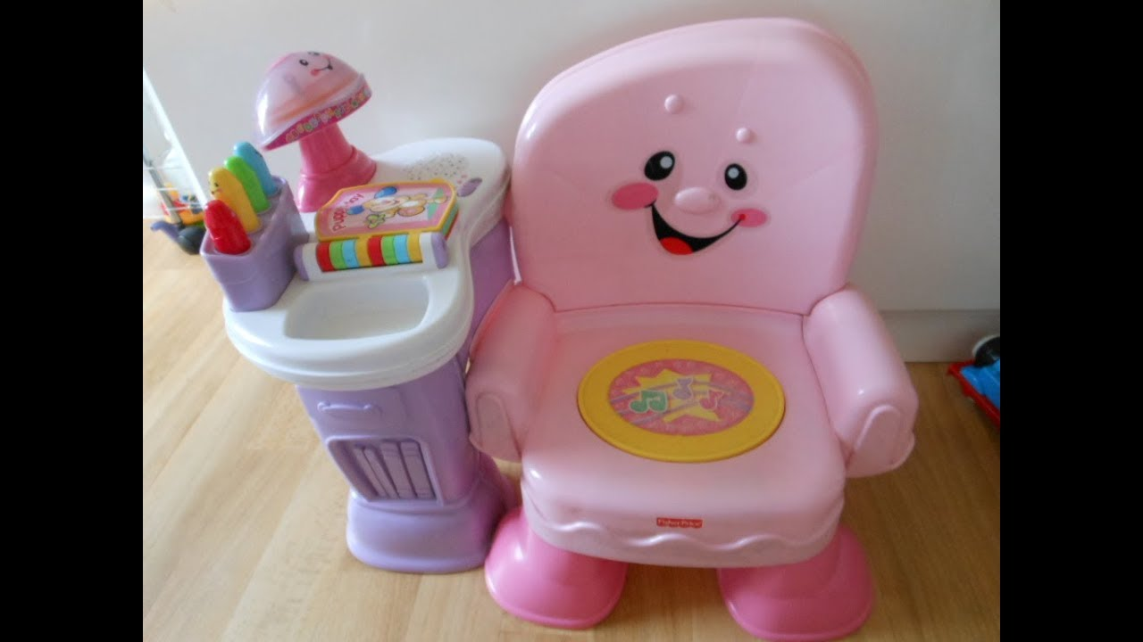 Fisher Price Laugh And Learn Chair Pink Pop Up Beach Wedding Invitations Musical Activity Youtube
