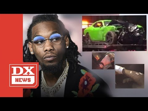 Offset  Car Crash Injuries Seen In New Video After Being Hospitalized