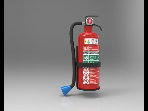 Rendering of Fire Extinguisher