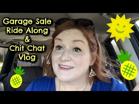 Garage Sale Ride Along Vlog - Finding Jewelry, Purses, and Fabric Yard Sales - Yard Sale Ride Along