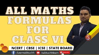 All Class 6 Maths Formulas - Fractions, Data Handling, Algebra, Mensuration, Ratio, and Proportion screenshot 3