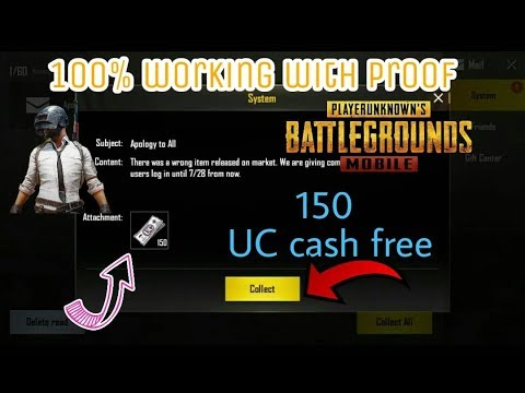 Trick To Get 150 Uc Cash Free On Pubg Mobile With Proof South